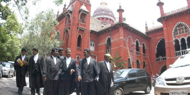 Madras High Court in Chennai, Tamil Nadu, India. (Photo by Hk Rajashekar/The India Today Group/Getty