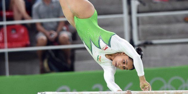 Indian woman gymnast Dipa Karmakar participates at the Rio Olympic 2016 in Rio de Janeiro, Brazil on