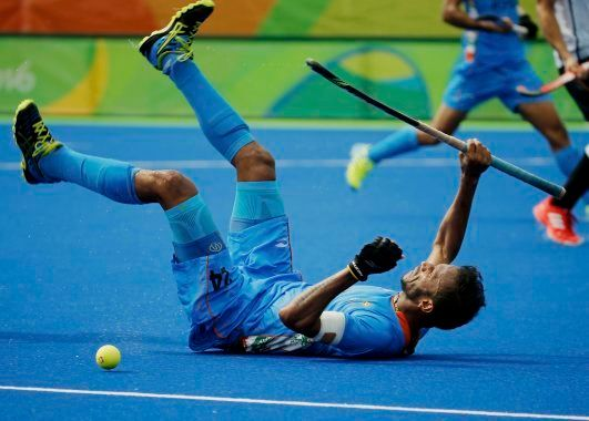 2016 Rio Olympics - Hockey - Preliminary - Men's Pool B Germany v India - Olympic Hockey Centre - Rio...