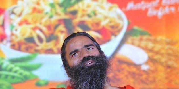 Baba Ramdev launching Patanjali Atta