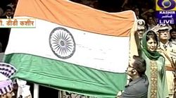 Tricolour Falls Off During CM Mufti's I-Day Event In Srinagar, Probe