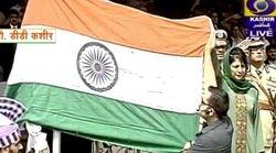 Tricolour Falls Off During CM Mufti's I-Day Event In Srinagar, Probe