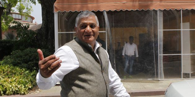 File photo of Union Minister of State for External Affairs VK Singh during Budget Session of Parliament...
