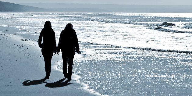 women walking at the