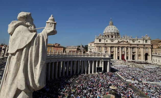 A general view of Saint Peter's Square as Pope Francis leads a mass for the canonisation of Mother