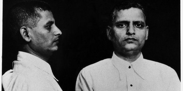 Mug shot of the Indian political activist Nathuram Vinayak Godse, the killer of Gandhi sentenced to hanging....