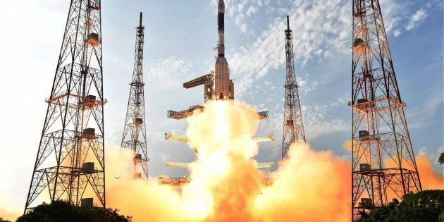 ISRO's GSLV-F05 carrying INSAT-3DR takes off from Satish Dhawan Space Centre in Sriharikota on