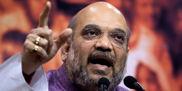 BJP president Amit Shah. (AP Photo/Manish