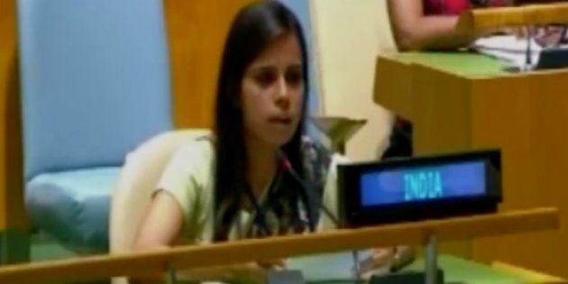 Meet Eenam Gambhir, The Indian Diplomat Who Flayed Pakistan At The UN General