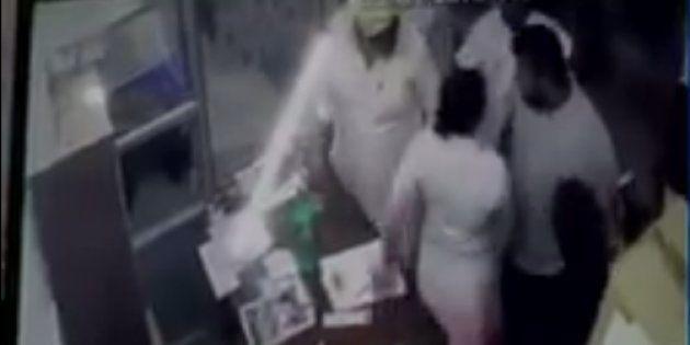 Akali Dal Sarpanch's Husband, Son Caught On Camera Assaulting Pregnant Nurse In Punjab's
