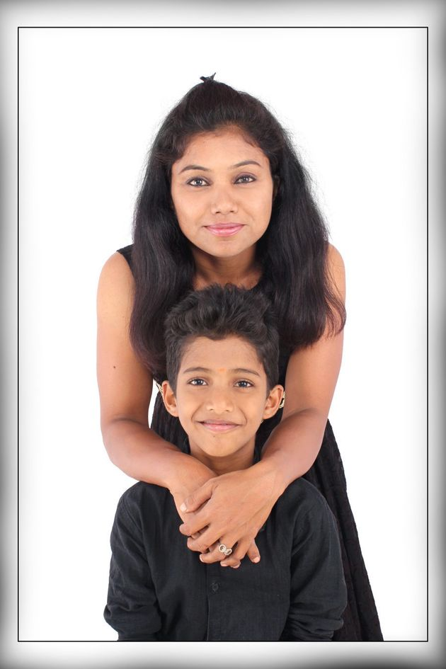 Prathima with her 10-year-old son,