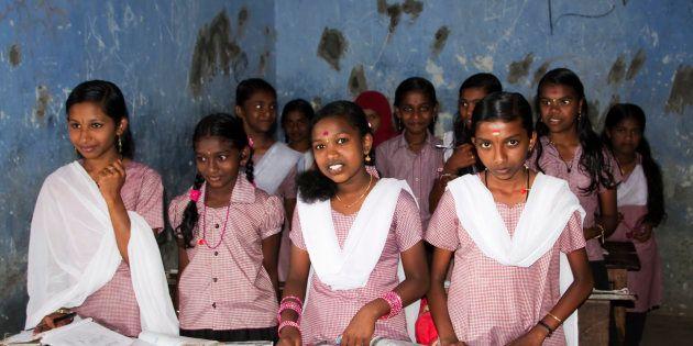 School students in Munnar,