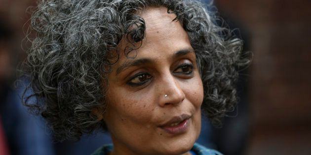 Writer Arundhati Roy. (Photo by Vipin Kumar/Hindustan Times via Getty