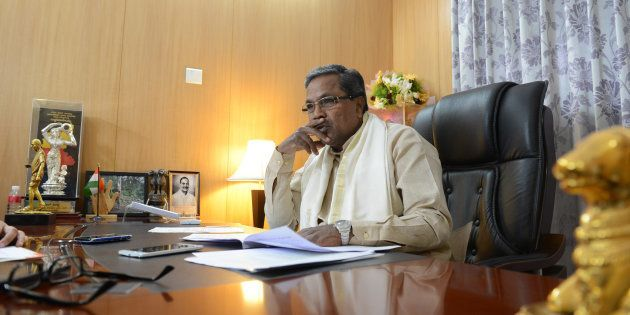 Karnataka Chief Minister K Siddaramaiah on September 18, 2015 in Bengaluru, India. (Photo by Hemant Mishra/Mint...