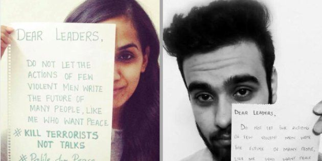 Indians And Pakistanis Are Putting Up Messages Of Peace As
