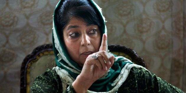 The chief minister of Jammu and Kashmir, Mehbooba Mufti. (AP Photo/Dar