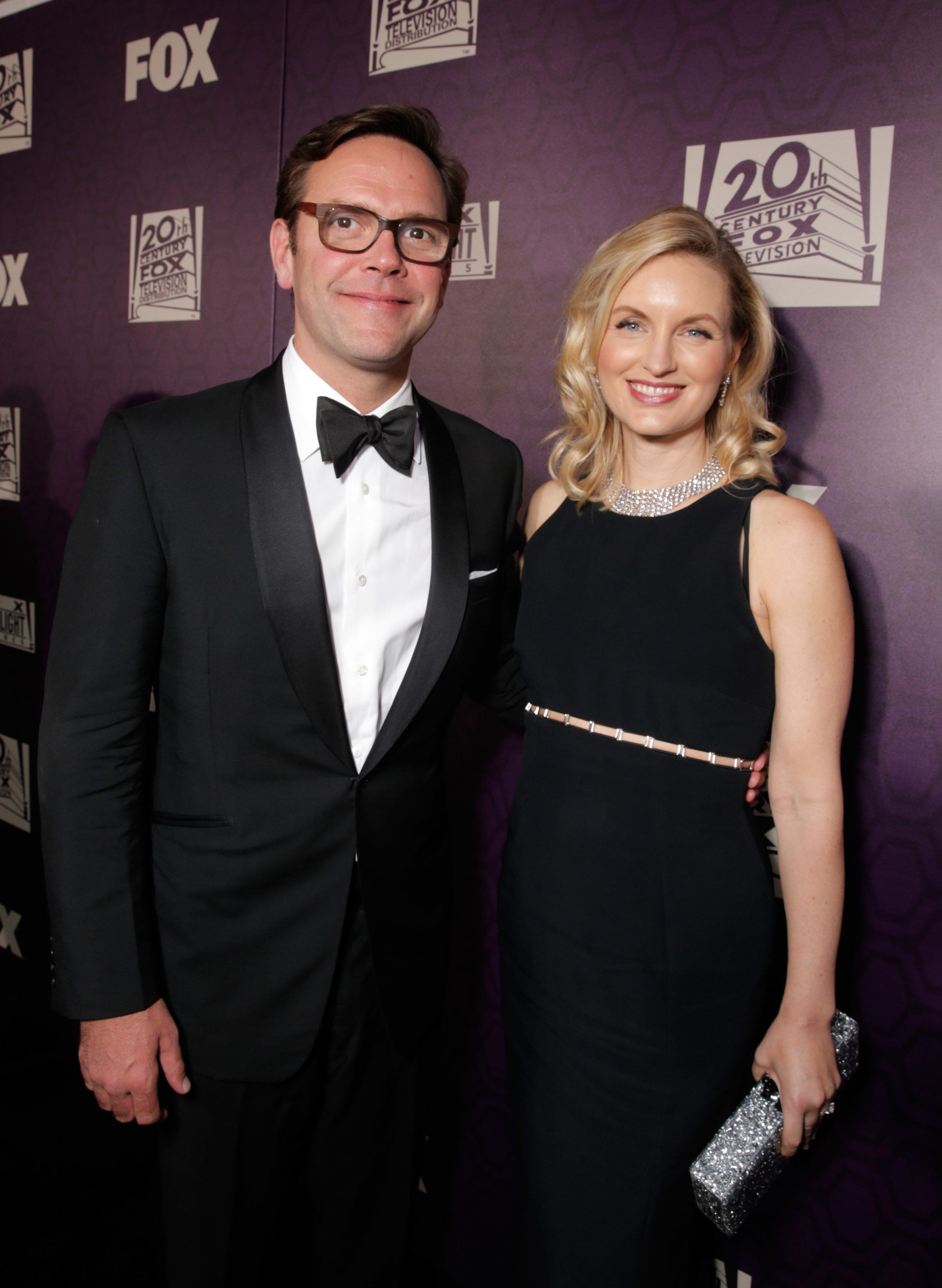 James Murdoch, Chief Operating Officer, 21st Century Fox, and Kathryn Murdoch Hufschmid are seen at FOX's 72nd annual Golden Globe Awards Party at the Beverly Hilton Hotel on Sunday, Jan. 11, 2015, in Beverly Hills, Calif. (Photo by Todd Williamson/Invision for Fox Searchlight/AP Images)