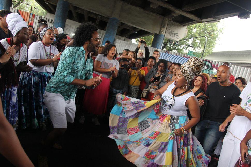 Afro-Brazilians celebrate Black Consciousness Day on Nov. 20 by dancing in a Roda do Jongo in Rio de Janeiro's Madureira neig