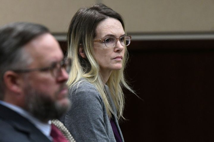 Denise Williams listens during her trial for the murder of her husband Mike Williams on Dec. 12, 2018.