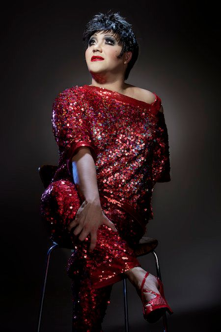 "Trevor Ashley stars as Liza Minnelli in his new one-man show, ""Liza's Back (Is Broken)."""