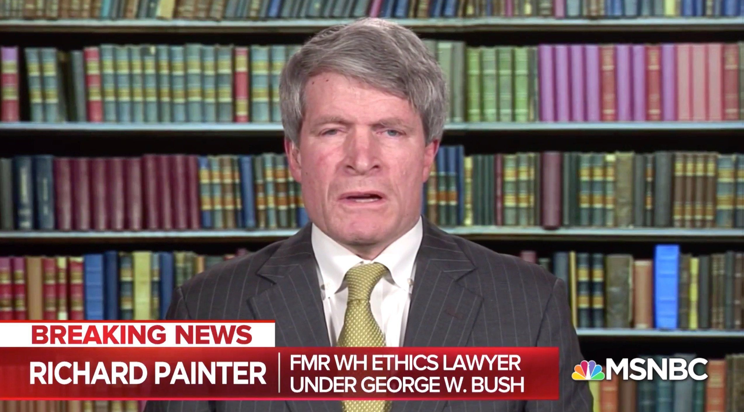 Former Bush Ethics Attorney Richard Painter Says There's Only 1 Way Out For Trump Now