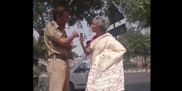 Watch: Woman Claiming To Be Daughter Of Supreme Court Judge Fights Cop, Calls Him