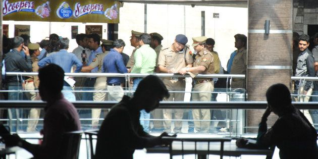 LUCKNOW, INDIA - MARCH 22: Lucknow Police run an anti-Romeo operation at Saharaganj mall, on March 22,...
