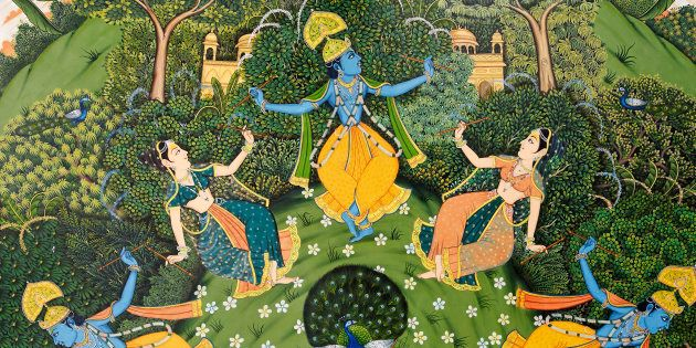 Representational image. (Detail from a ceiling mural depicting a story relating to the Hindu god Krishna...