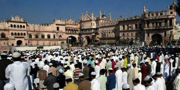 Muslims offer Eid al-Adha prayers in Bhopal November 28,