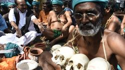 Protesting Tamil Nadu Farmers Strip Outside PM Modi's Office After They Are Not Allowed To Meet