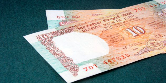 A ten rupee notes (Indian