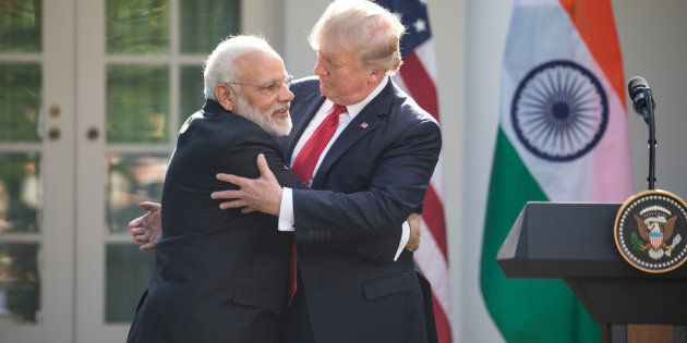 President Donald Trump and Prime Minister Narendra Modi of India, held a joint press conference in the...