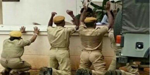 Four Odisha Home Guards Forced To Kneel Down Over 'Improper
