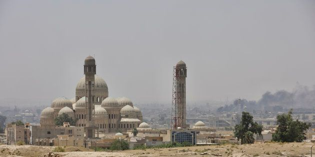 Great Mosque of al-Nuri with its leaning minaret from where Abu Bakr al-Baghdadi declared a caliphate...