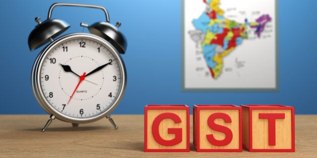 G S T concept with Indian Map - 3D Rendering