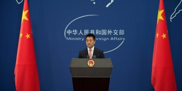 File photo of Chinese Foreign Ministry spokesman Lu