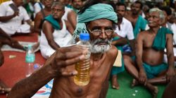 Tamil Nadu Farmers Drink Urine At Jantar Mantar Over Delay In Drought Relief