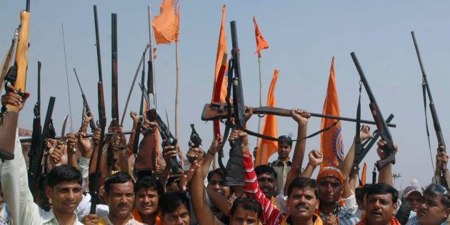 Agra Policeman Attacked, His Car Burnt Down, By Alleged Bajrang Dal