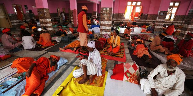 Representative photo. Hindu pilgrims rest before registering for the annual pilgrimage to the Amarnath...