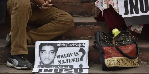 JNU students have been protesting over Delhi police's inaction in the Najeeb Ahmed