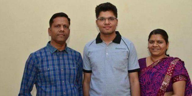 Kalpit Veerwal posted a photo with his parents on Facebook on Friday, 28 April,
