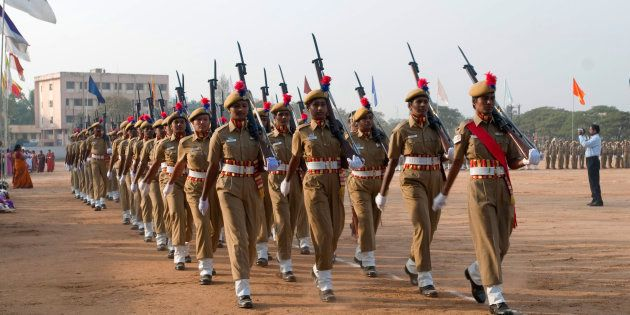 [Representational image] File photo of women police parade on republic day at Coimbatore, Tamil