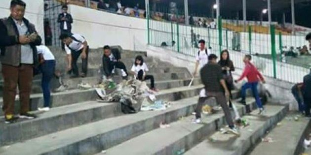 This Picture Of Fans Cleaning The Stadium After Aizawl's Historic I-League Win Is Going Viral For All...