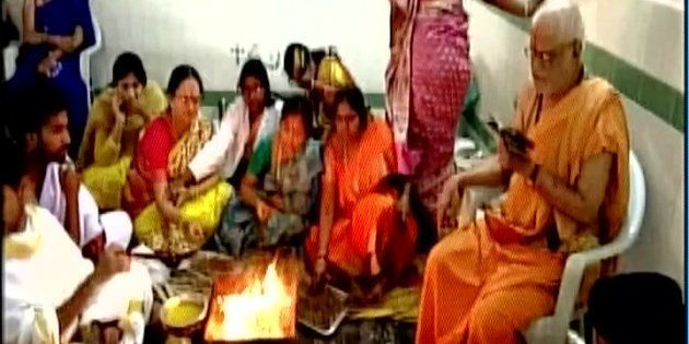 Hyderabad Hospital Holds 'Havan' To Reduce
