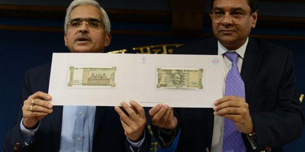 NEW DELHI, INDIA November 08: Revenue Secretary Shaktikanta Das and Governor of the Reserve Bank of India...