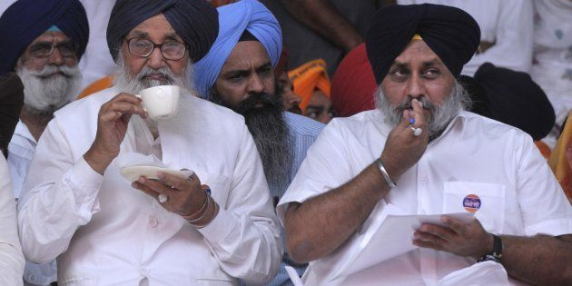 File photo of Punjab Chief Minister Parkash Singh Badal and Deputy Chief Minister Sukhbir Singh