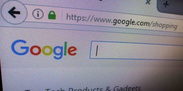 The website of Google Shopping service is seen in Manila, Philippines on Tuesday, June 27,