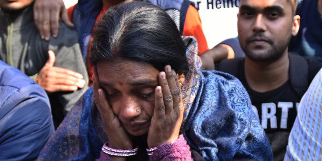NEW DELHI, INDIA DECEMBER 29: Mother of Nirbhaya, the victim of a fatal gang-rape in a moving bus on...