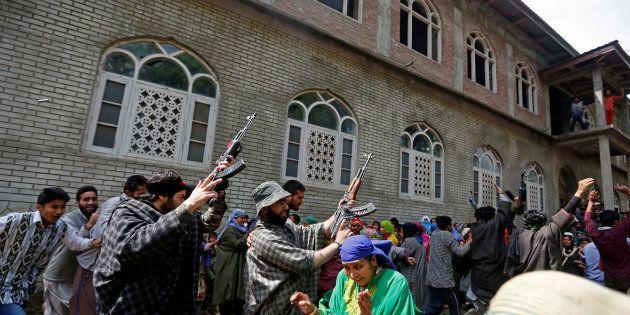 Militants Give 'Gun Salute' To Slain Associate At Funeral In J&K's