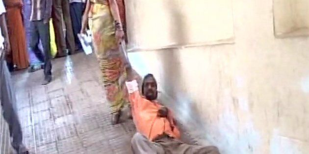 Wife Drags Sick Husband To First Floor After Hospital Denies